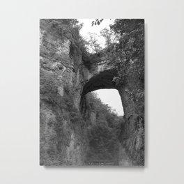 B & W Natural Bridge Metal Print