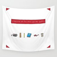 notebook Wall Tapestries featuring Inspire yourself with things you like by Paper Dreams
