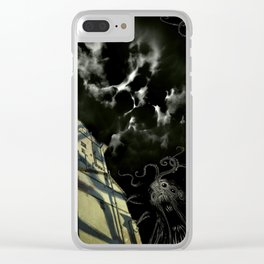 Nightmare in the Outskirts Clear iPhone Case