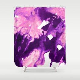 inkblot marble 10 Shower Curtain