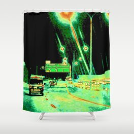 A Little Night Drive Shower Curtain