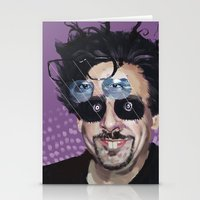 tim shumate Stationery Cards featuring Tim Burton by Pazu Cheng