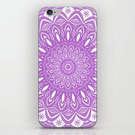 Beautiful Purple Violet Mandala Design Pattern Minimal Minimalistic iPhone Skin