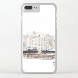 Snowflake in Pars Clear iPhone Case