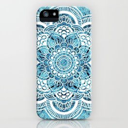 Mandala Aqua Turquoise Colorburst iPhone Case