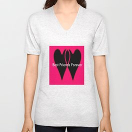Best Friends Forever jGibney The MUSEUM Gifts society6  Unisex V-Neck