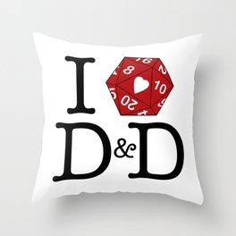 I Heart D&D Throw Pillow