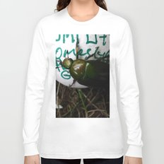 The Beetle. [INSECTS] [GREEN BEETLE] [INSECT] [BEETLE] Long Sleeve T-shirt