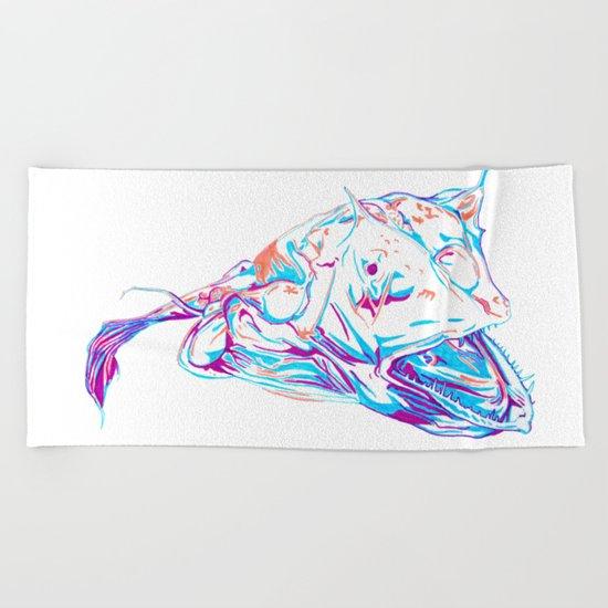 Deep Sea Monster Beach Towel