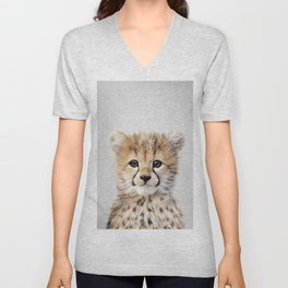 Baby Cheetah - Colorful Unisex V-Neck