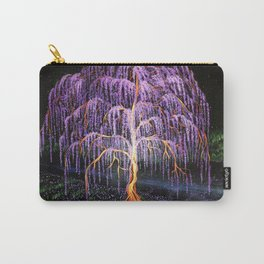 Electric Wisteria Willow Tree Carry-All Pouch