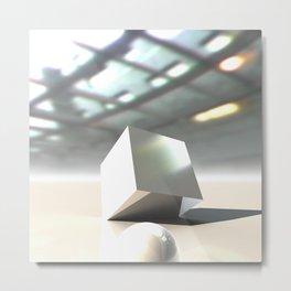 HDRI Cube Metal Print