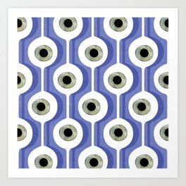 Eye Pod Purple Art Print