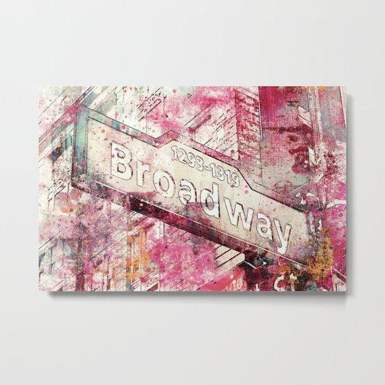 Broadway sign New York City Metal Print