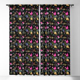Cycledelic black Blackout Curtain