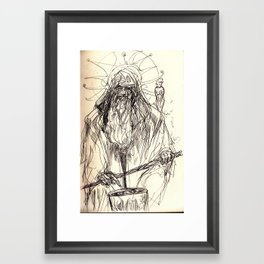 Prospero drop Framed Art Print