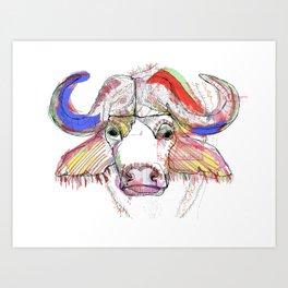 Cape Buffalo Art Print
