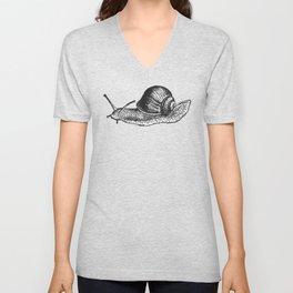 Snail Unisex V-Neck