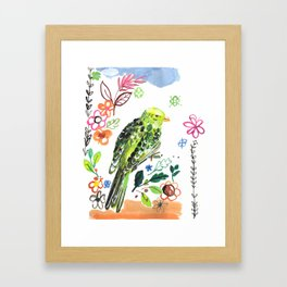 Clancy the Parakeet Framed Art Print