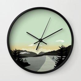 Misty Mountain II Wall Clock