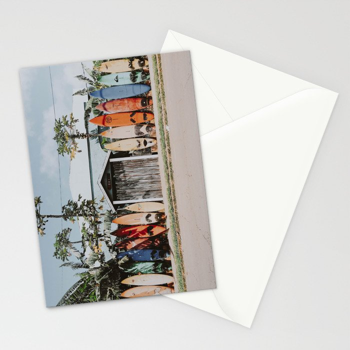 lets surf vi / maui, hawaii Stationery Cards