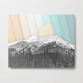 Morning Light Mountain Collage Metal Print
