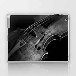 Black and White Violin Laptop & iPad Skin