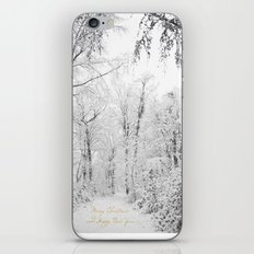 Happy snow iPhone & iPod Skin
