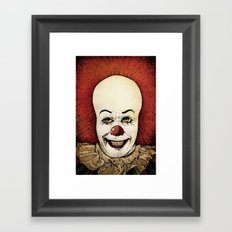 It - Pennywise (Color Version) Framed Art Print
