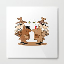 two spies Metal Print