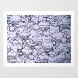 Cupcakes and co Art Print