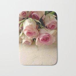 A Rosey Pastel Bath Mat