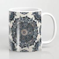 islam Mugs featuring Silver Mandala by Mantra Mandala