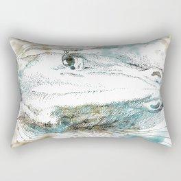Watercolor Horse Rectangular Pillow