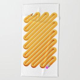 Curved Pencil Beach Towel