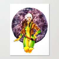 rogue Canvas Prints featuring Rogue by Doodleholic
