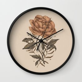 Peony and Ferns Wall Clock