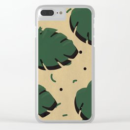Monstera leaf 1 Clear iPhone Case