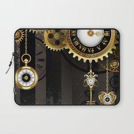 Antique Clock with Keys ( Steampunk ) Laptop Sleeve