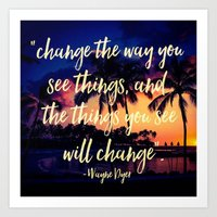 Art Print featuring Change by Sara Chapin