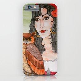 Gypsy Owl Woman iPhone Case