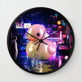 Rubber Duck Alley Wall Clock