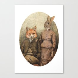 The Foxes Canvas Print