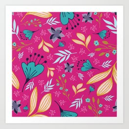 Spring Flowers Style F Art Print
