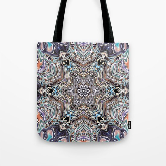 Colorful Kaleidoscopic Abstract Tote Bag