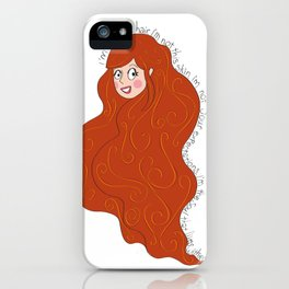 I'm not my hair! iPhone Case