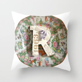 Love Letters to Dinnerware - R Throw Pillow
