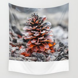 Winter Pinecone Wall Tapestry