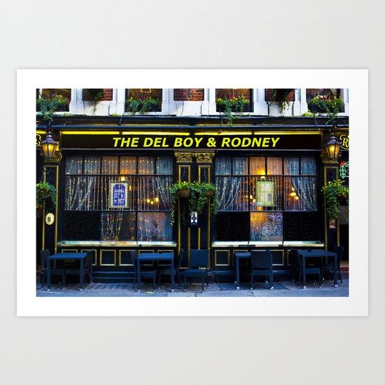 The Del Boy and Rodney Pub Art Print