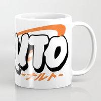 naruto Mugs featuring Naruto Logo by olympicvanilla